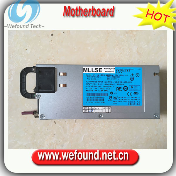 100% working power supply For 503296-B21 460W 511777-001 499249-001 499250-001 power supply ,Fully tested. power supply for xw8400 xw9400 tdps 825ab 405351 003 408947 001 fully tested