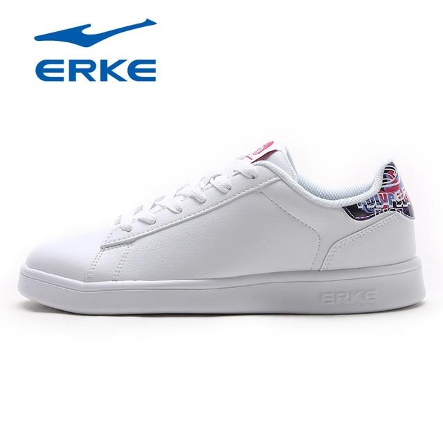 Ерке Для женщин Обувь для скейтбординга спортивные 2018 Холодный Свет Уайт Спортивная обувь Открытый Обувь спортивная для девочек воздухопроницаемая комфортная обувь Обувь Для женщин