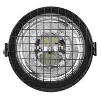 Universal 12V 6000K Shockproof Motorcycle Headlight Round LED Head Lamp Fog Spotlight with Bracket Grille Cover Moto Accessories