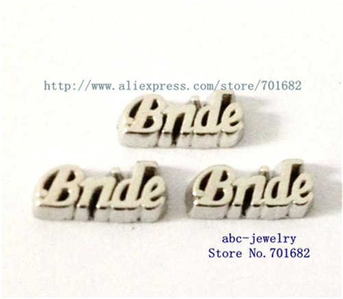 wholesales 10pcs floating locket charms Bride FC265 for living memory floating locket as Mom Dad sister grandma gift