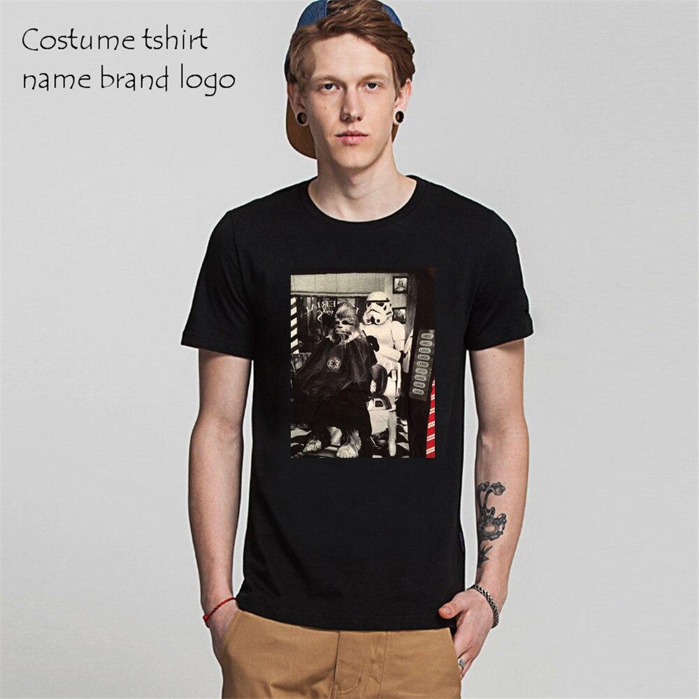 New Arrival Mens 3d T shirts Star Wars Stormtrooper Chewbacca Barber Shop Photo tshirt Fashion Design Print male Cotton Tee