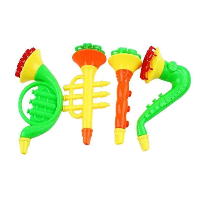 สบู่เป่าฟองฮอร์นไม่มี Liquild เข้มข้น Stick ถาดเด็กชุดของเล่นฤดูร้อนกลางแจ้ง Bubble Machine ของเล่น