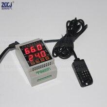 CJ DTH 40 ~ 85C 0.0 ~ 99.9% RH الدين درجة الحرارة و وحدة تحكم في الرطوبة 35 ملليمتر الدين ترموستات رقمي والرطوبة مع الاستشعار