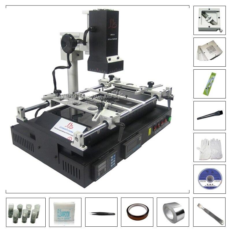 LY IR8500 Infrared BGA Rework Soldering Station with BGA Reballing Kit 184pcs 80mm / 90mm Stencil Jigs Holder стоимость