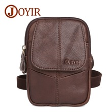 JOYIR Bolsa Casual Mens Bags Genuine Leather Mini Crossbody Small Men Shoulder Messenger for Waist Pack Belt