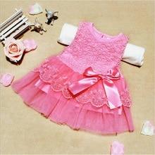 2016 gorgeous princess girl dress/Summer girl's lace dress/Good quality girls party dress