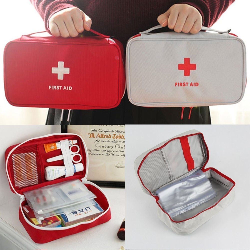 Portable Camping First Aid Kit Emergency Medical B...