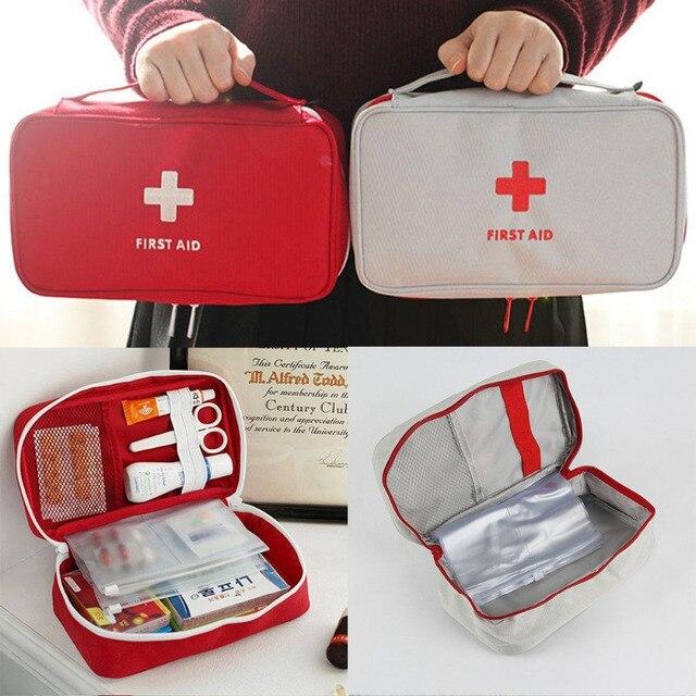 Trousse de premiers soins de Camping Portable sac médical d'urgence kits de voiture imperméables sac Kit de survie de voyage en plein air sac vide Househld