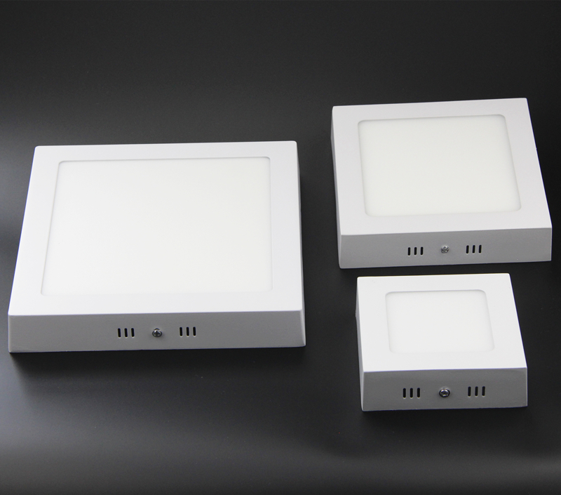 6W 12W 18W კვადრატული თხელი კედლის ზედაპირის მთაზე ჭერის LED განათება SMD 2835 downlight fashion მოკლე, 110v-220v + LED Drive
