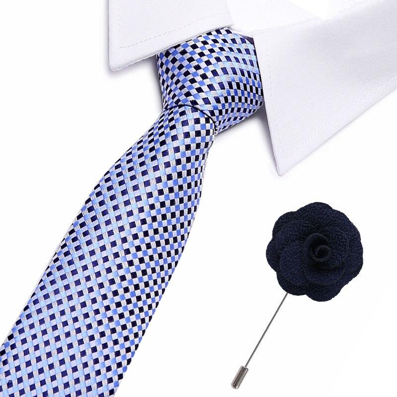 Formal party business tie amp pin set wedding accessories slim fashionable neckties man 2019 hot sale 7 5cm neck ties for men in Men 39 s Ties amp Handkerchiefs from Apparel Accessories