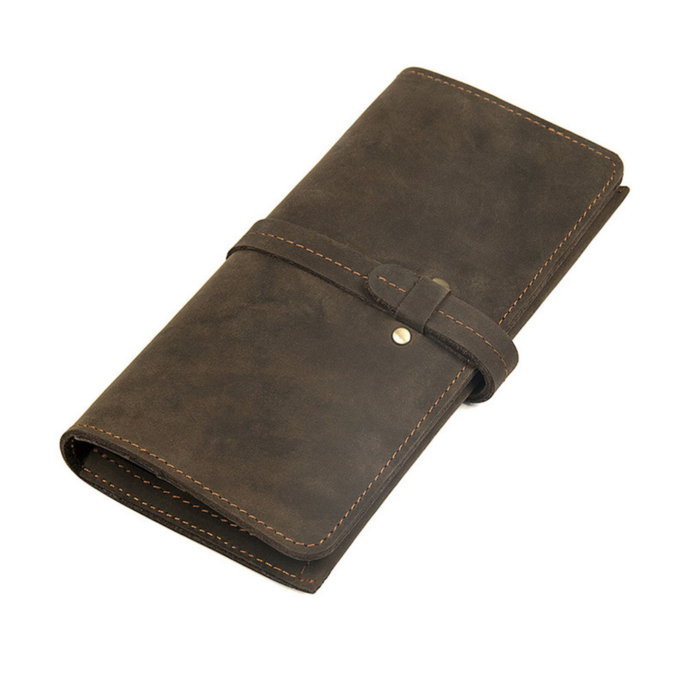 2018 Genuine Crazy Horse Cowhide Leather Men Wallets Fashion Purse With Card Holder Vintage Long Wallet Clutch Wrist Bag free shipping 1 pcs lot lpc1778fbd208 qfp new in stock ic