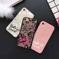 NEW Luxury Brand Victoria/s Secret Lace Flower Hollow Floral Case for iPhone 6s Phone Cover Coque for iPhone 6 6s 7 Plus 5 5s #