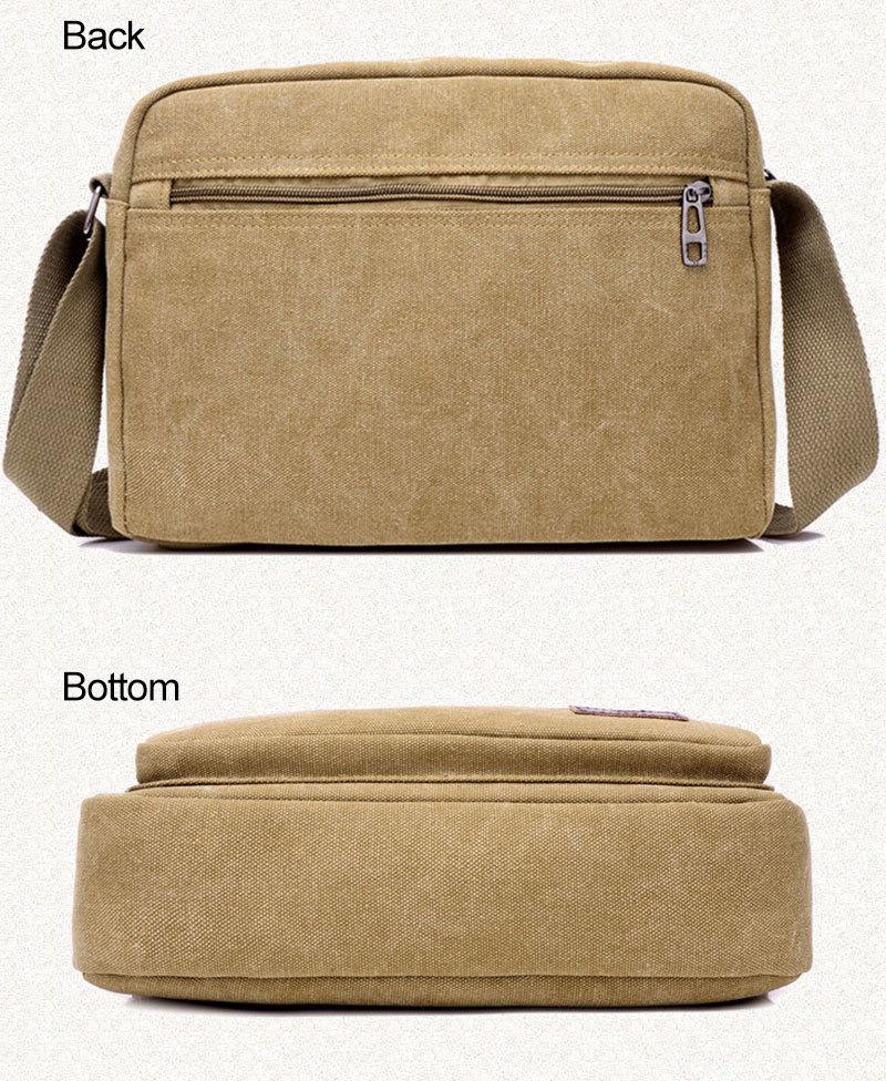77cd97e4de LDAJMW Best Sellers Man Fashion Leisure Canvas Single Shoulder Satchel Bag  Mobile Phone Key Bag Wallet