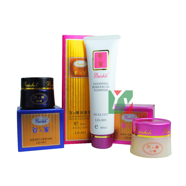 Al por mayor y al por menor crema de Noche + crema de Día blanqueamiento crema para la cara cuidado de la piel Baizhili Original