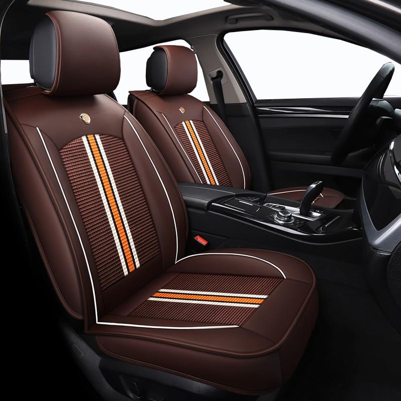 Front Rear ice silk Leather auto car Seat Covers For Suzuki grand vitara s cross