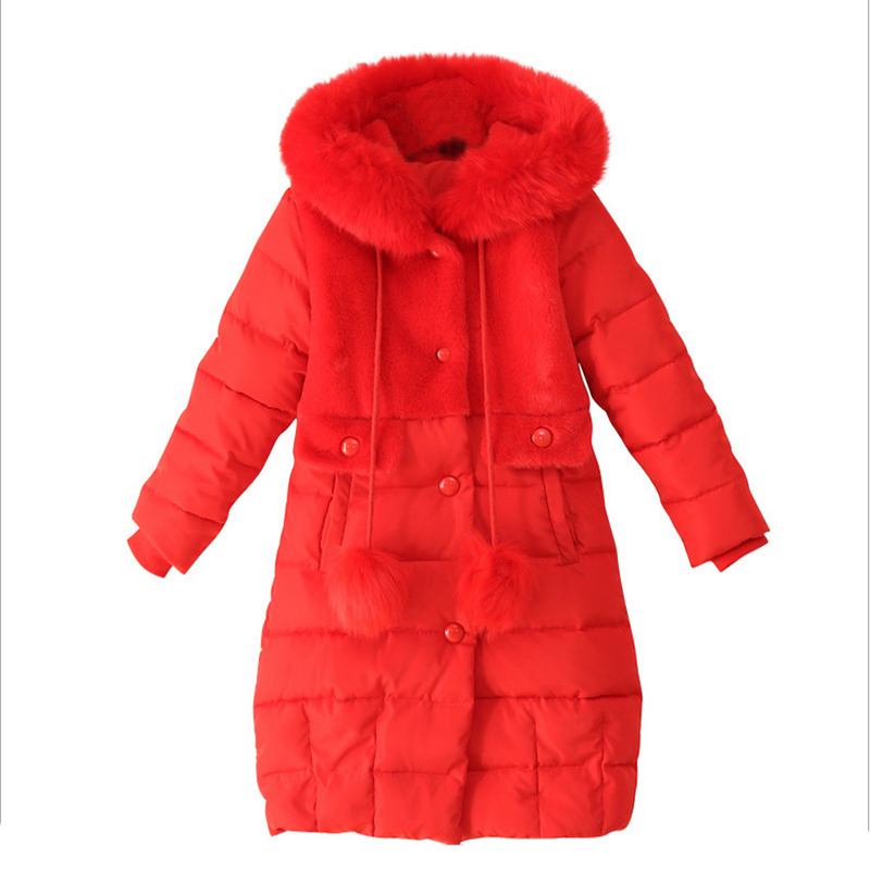 2017 New Girls Jacket winter jackets thickening down coat children girl kids clothes coats korean 6-8 year fashion birthday girls down coats girl winter collar hooded outerwear coat children down jackets childrens thickening jacket cold winter 3 13y