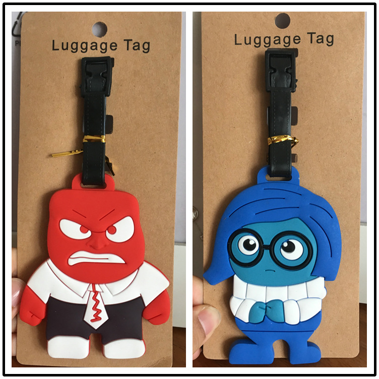 Big battle mind agent team Inside Out luggage tag passes the luggage check card
