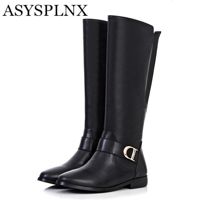 Online Get Cheap Knee High Flat Black Boots -Aliexpress.com ...