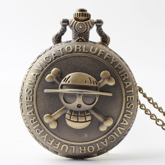 Vintage CrossBones Bats Quartz Watches Pocket Watch Key Ring Necklace Gift LXH