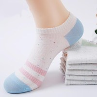 Wholesale 40 pairs 100% cotton women socks thin invisible socks