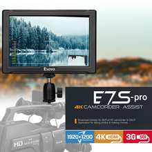 Eyoyo E7S PRO 7 inch DSLR On Camera Field Monitor IPS Full HD 1920x1200 3G SDI 4K HDMI Small Slim DSLR for Canon Nikon Sony lilliput a7s 7 ultra slim ips full hd 1920 1200 4k hdmi on camera video field monitor for canon nikon sony dslr camera video