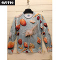 Горячая Весна Осень 3d Толстовки Мужчин Seashell Дворец Большой Сфинкс Печати Женщины Мужчины Толстовки Пара Одежды