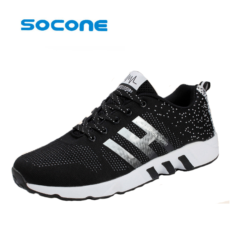 Men Running Shoes Sport Big Size Black/Gray Mesh Jogging Shoes For Men Summer/Autumn Sneakers Mens Athletic Trainers Male brand running shoes for men women unisex sport trainers breath athletic sneakers runner 9 colors plus max big size 12 onemix