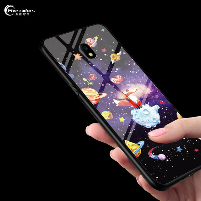 premium selection 35442 b0bb3 US $3.99 20% OFF|Tempered Glass Case For Samsung Galaxy J4 Plus Case For  Samsung Galaxy J6 Plus Soft Cover For Samsung Galaxy J4+ J6+ Phone Cases-in  ...