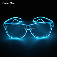 100pcs EL Wire Flashing Sunglasses With Transparent Lens With Steady On Driver Wholesale LED Neon Rope