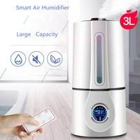GRTCO Remote Control 3L 350ML H LCD Difusor De Aroma Smart Ultrasonic Air Humidifier Aroma Oil