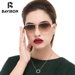 9d0de2f7332 BAVIRON Square Sunglasses Vintage Women 2018 Sun Glasses