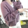 Nuevo otoño y el invierno de la rebeca de las mujeres 2016 casual manga larga cardigans de punto de ganchillo suéteres de las señoras vestidos de moda
