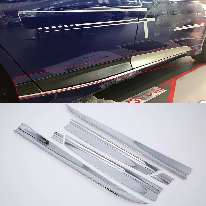 ABS Car Body Molding Cover Trims 6pcs Styling accessories For HONDA ACCORD 2018