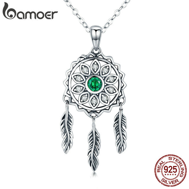 BAMOER New Trendy Real 40 Sterling Silver Dream Catcher Holder Best Is Dream Catcher Real