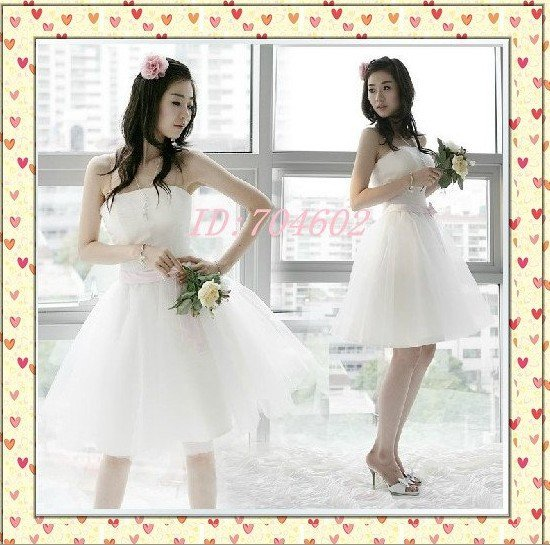 Wedding Dress Fashion Dress  XS,S,M,L,XL,XXL  6 Size  for  choose  All World   Free Shipping