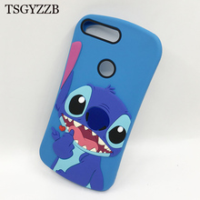 3D Cartoon Cute Stitch Phone Coque For Huawei Y5 Prime 2018 Y7 2018 Y6 Prime 2018 Y9 2019 Case Soft Silicone Cover Honor 8X Case funny stitch case soft silicone phone case for huawei y9 2018 capa fundas coque for huawei y9 2019 silicone cover honor 8x cases