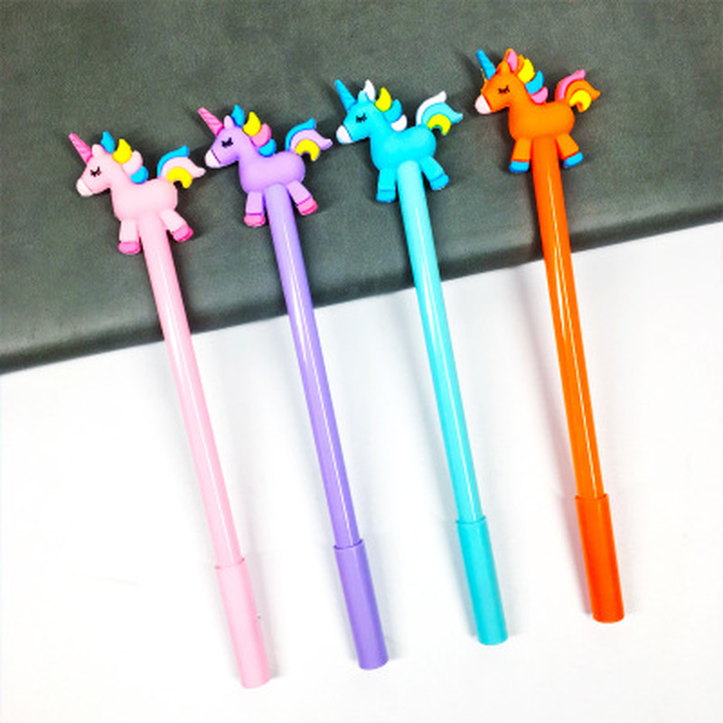 1pcs Unicorn Gel Pens Stationery Novelty Kawaii Pen 0.5mm Cute Pens Cute Cartoon Student Writing Gel Pen Kawaii School Supplies