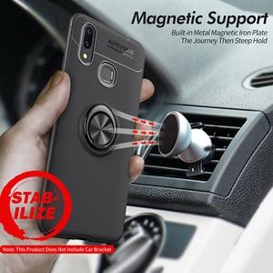 Image 5 - Armor case Voor Xiao mi mi max 3 case Beschermende Bumper Vinger Ring Houder Zachte Siliconen Matte Back Cover Voor Xiao mi max 3 Gevallen
