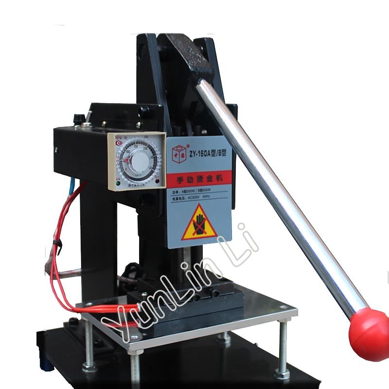 150*100mm Hot Stamping Machine 220V Manual Leather Embossing Machine Hot LOGO Marking Machine Bronzing Machine ZY-160B цены