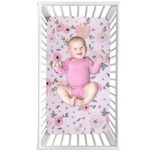 цена на Baby Bed Crib Sheet Mattress Cover 100% Cotton Crib Fitted Sheet Soft Baby Bed Mattress Cover Protector Cartoon Newborn Bedding