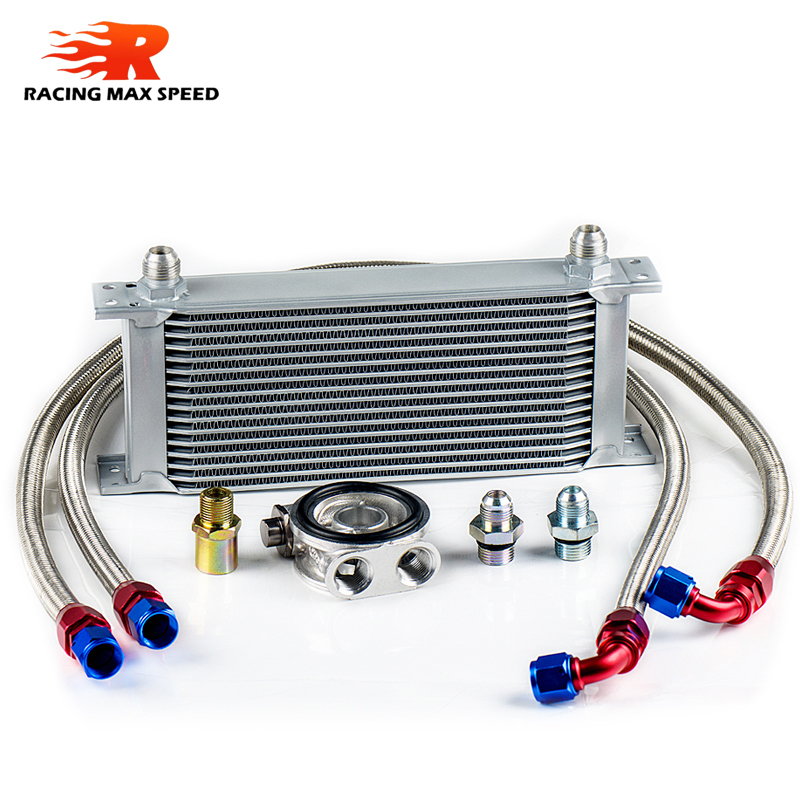 wholesale universal racing car row 16 excavator hydraulic oil cooler-in Oil Coolers from Automobiles & Motorcycles