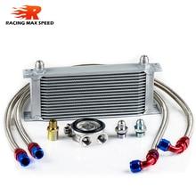wholesale universal racing car row 16 excavator hydraulic oil cooler