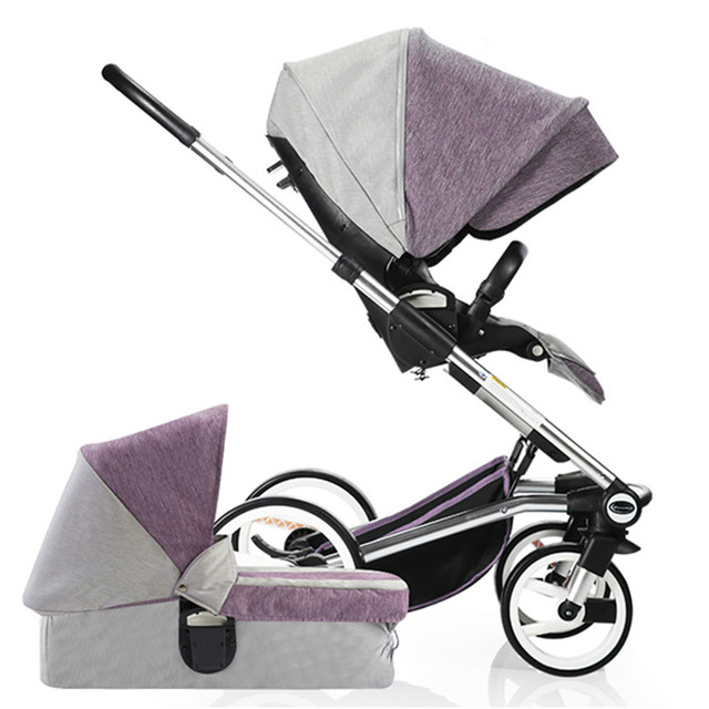 Carrinho de bebê de alta paisagem suspensão sentar mentira two-way carrinho de bebê dormindo cesta carrinho buggies