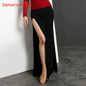 Image 2 - Belly Dance Clothing Colors 4 Professional Split Long Skirts Wrapped Women Skirt Cheap Belly Dance Skirt