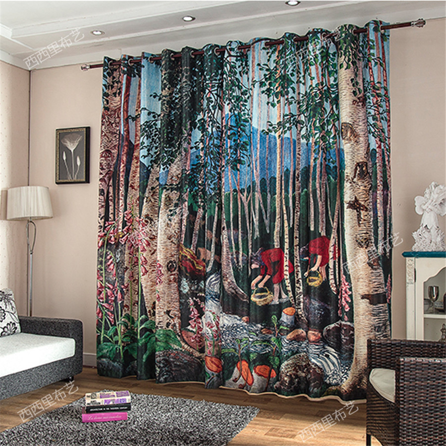 Paravent Deutsch Us 64 83 20 Off Carton Child Kids 3d Curtains Blackout Curtains Livingroom Drapes Bedroom Window Door Christmas Paravent Hanging Screen Wall In