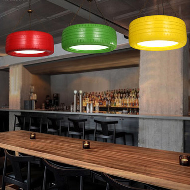 Vintage Tyre Pendant Lights Fxiture Creative Retro Droplights Cafes Pub Coffee Shops Restaurant Lamp Home Indoor Lighting 70cm