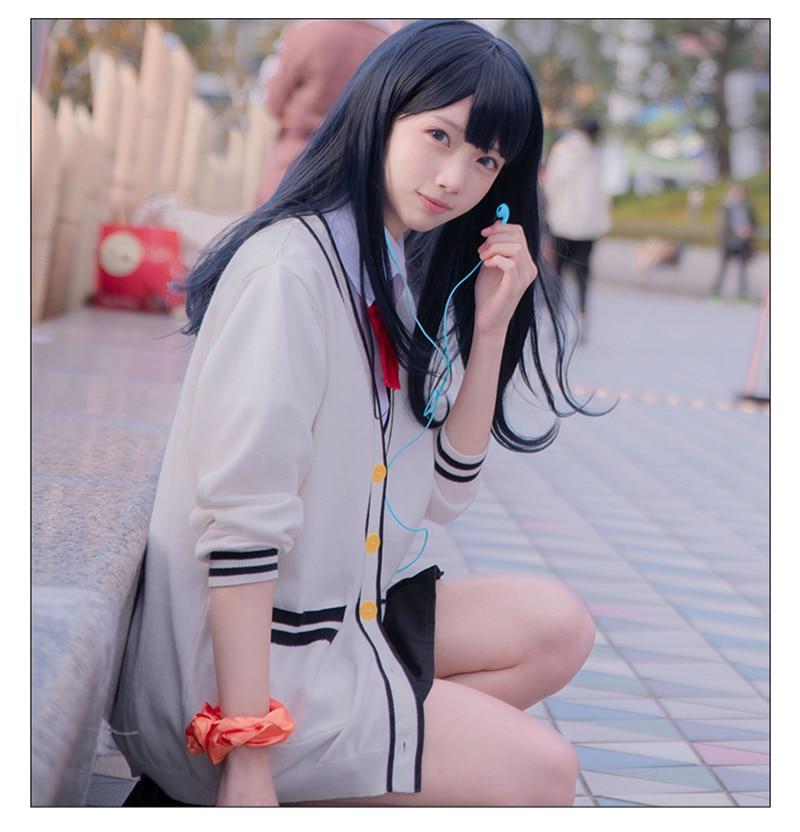 Anime SSSS.Gridman Cosplay Costumes Rikka Takarada Sweater Uniform Skirt Cosplay Costumes Women Cosplay Costumes