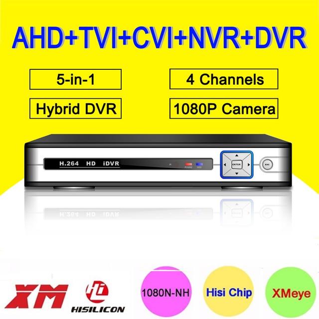 Серебристо-Белый Металлический Корпус Hisiclion 1080 P/1080N/960 P/720 P 4CH 25fps В Реальном Времени 5 в 1 Коаксиальный NVR CVI TVI AHD DVR Бесплатная Доставка