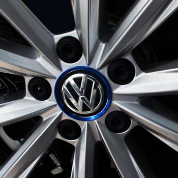 4 sztuk partia Ho nowe akcesoria montażowe dla volkswagena VW Golf 4 5 6 Polo Passat B5 B6 B7 Jetta Mk6 Tiguan Gol krzyż Fox Plus CC tanie i dobre opinie Opony i Obręczy Aluminium naklejka Zmiana koloru STAINLESS STEEL Inne Naklejki Nie pakowane 2157