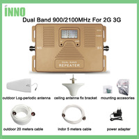Full Smart DUAL BAND 900 2100mhz Speed 2g 3g Mobile Signal Booster Signal Cell Phone Repeater